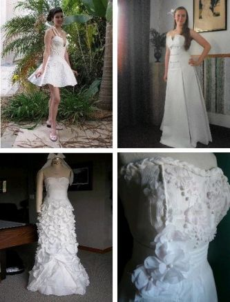 Recycled wedding dresses wild wacky and wonderful onewed for Recycle wedding dress ideas