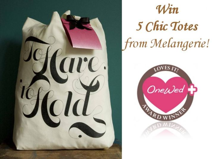 Chic wedding day tote bags for your lovely bridesmaids!