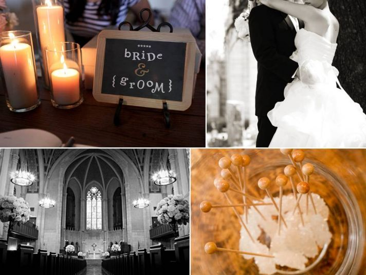 Wedding reception personal touches- Bride and Groom chalkboards, rock candy