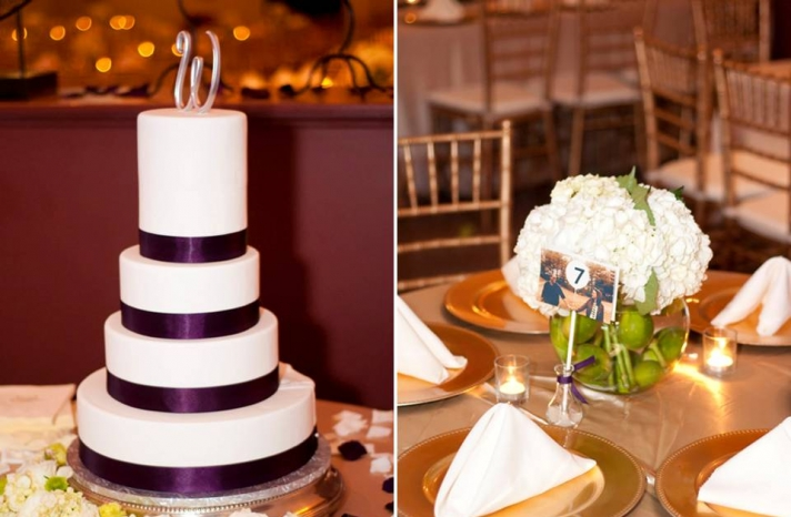 real-wedding-inspiration-traditional-reception-decor-gold-purple-white-color-palette