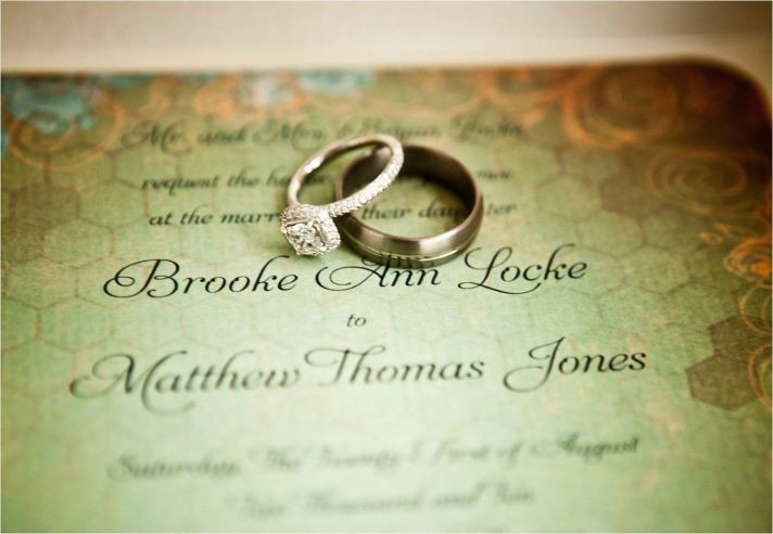 Stunning green and gold wedding invitations with an antique vibe