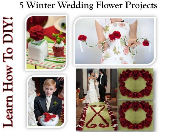 Stunning DIY wedding flower arrangements for your winter wedding