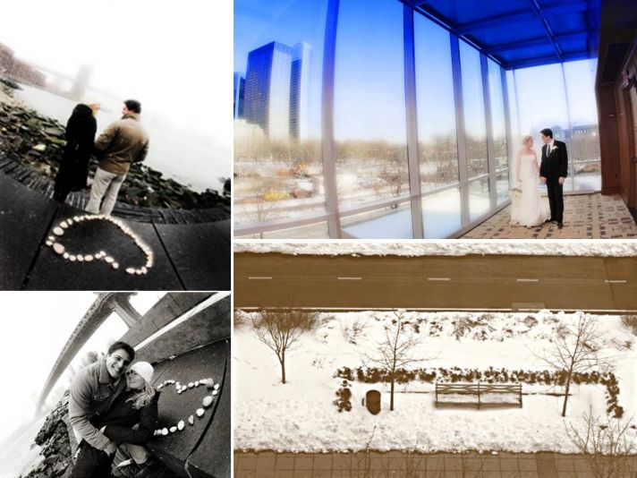 Downtown New York wedding in February