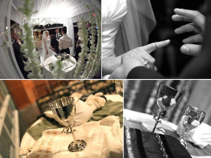 Traditional Jewish wedding ceremony in downtown New York