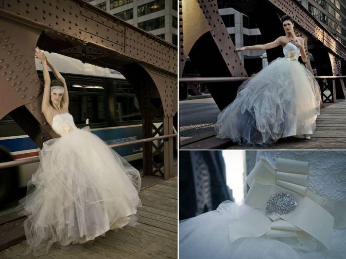 2011 Adele Fabiano ball gown wedding dress