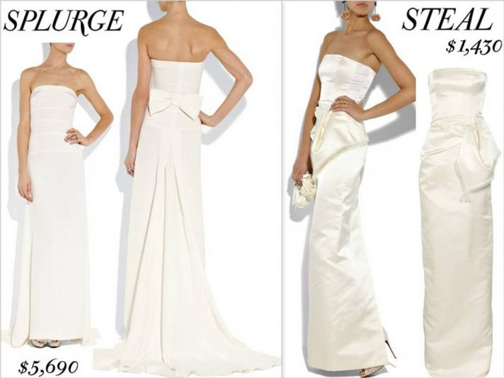 Two wedding dresses you love, one for almost $6000, one for less than $1500!