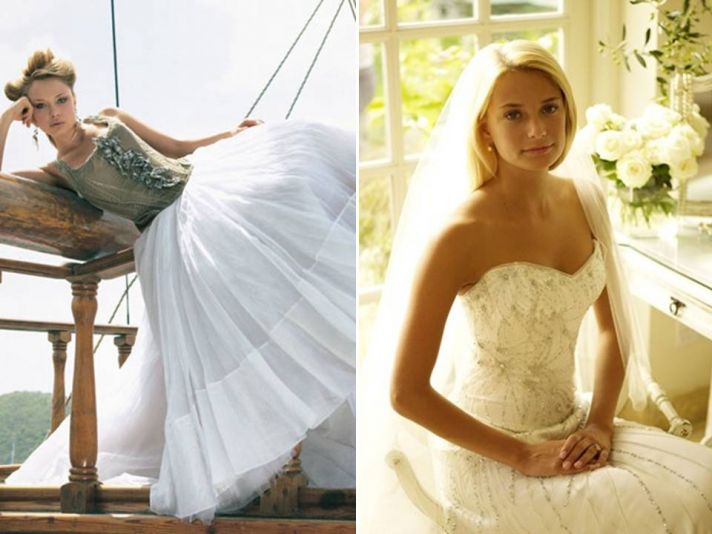 The corset bodice wedding dress is most definitely a trend in Britain
