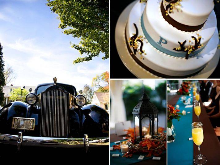 Rolls Royce wedding day transportation, classic wedding cake