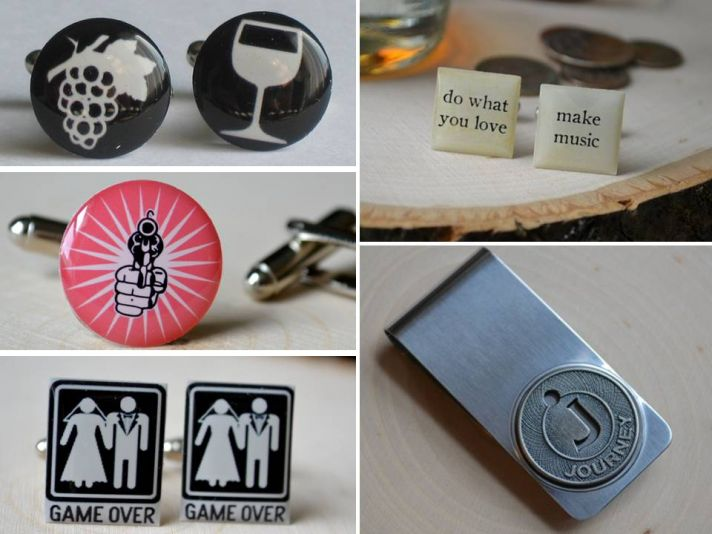 Let your groom show his stylish side with custom cuff links from Bird 'n Bloke