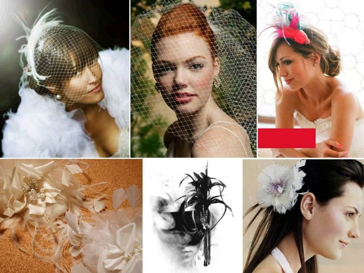 Add style to your wedding day look with a unique, chic bridal veil or head piece
