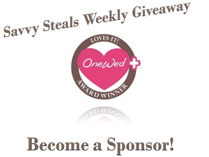 Reach brides nationwide- sponsor a giveaway on OneWed's Savvy Scoop!