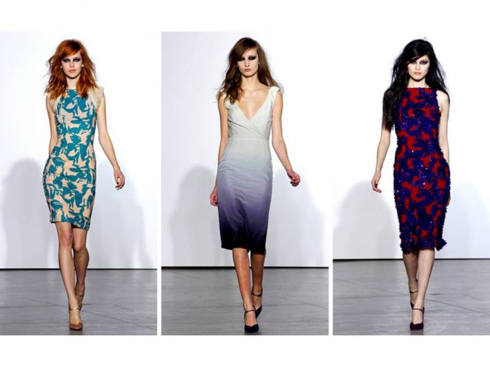 Bold, vibrant patterns and ethereal ombre on L'Wren Scott Fall 2011 dresses