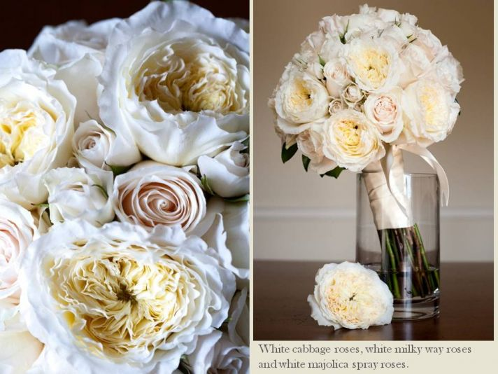 Classic and elegant ivory and blush pink bridal bouquet
