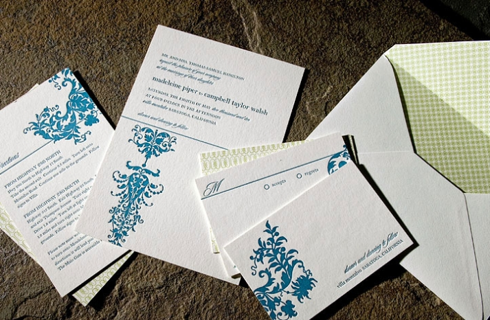 white-teal-green-letterpress-wedding-invitations-eco-friendly