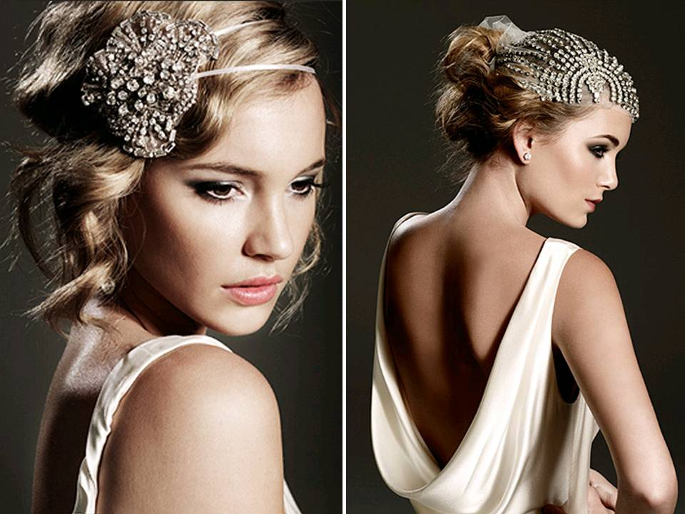 Chic vintageinspired bridal accessories and wedding headband