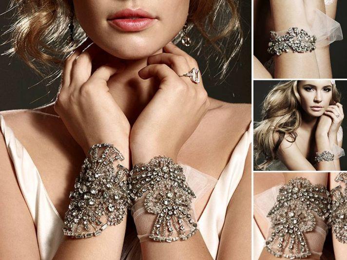 Stunning dramatic rhinstone-encrusted cuff bracelets