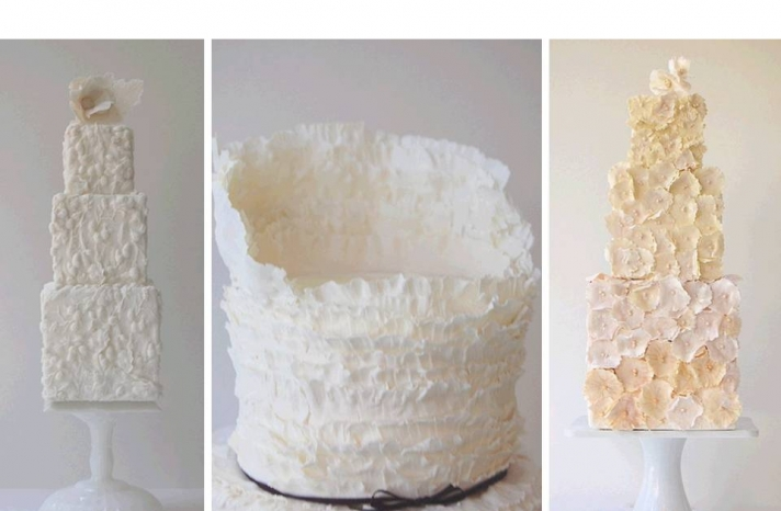 texture-rich-wedding-cakes-inspired-by-wedding-dresses-applique-ruffles