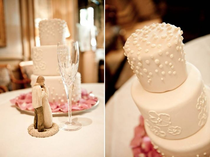 Classic ivory 3-tier round wedding cake