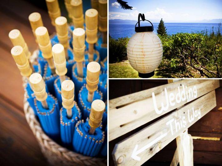 Lake Tahoe wedding on the lake at private residence