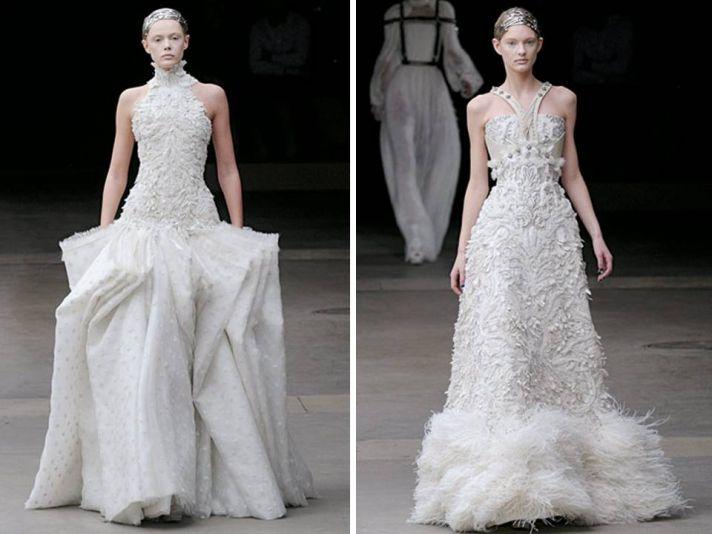 White bateau neck wedding dress with modified a-line skirt