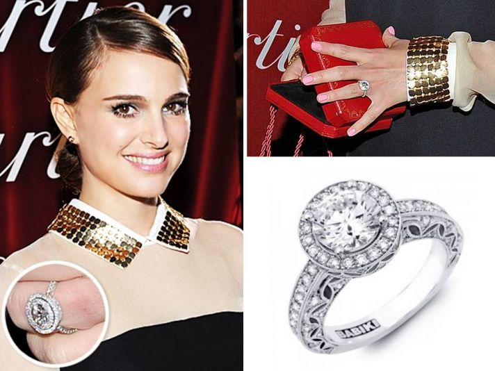 Natalie Portman's stunning engagement ring- her wedding will happen any day now!