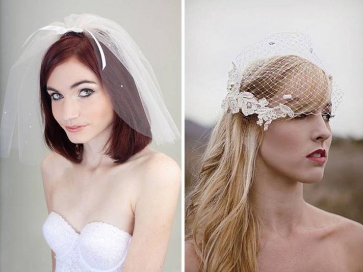 Romantic handmade bridal veils