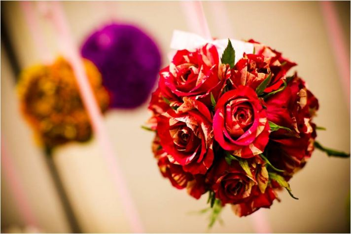 DIY wedding flower project- floral pomader balls