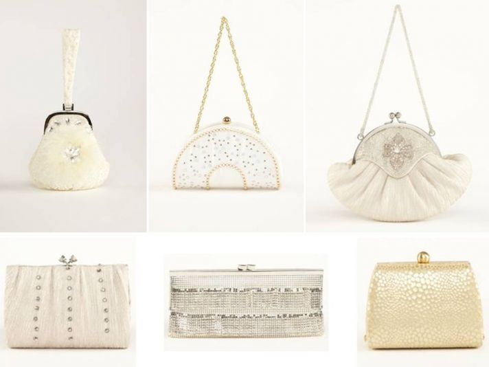 Luxe designer handbags and clutches for the bride and bridesmaids
