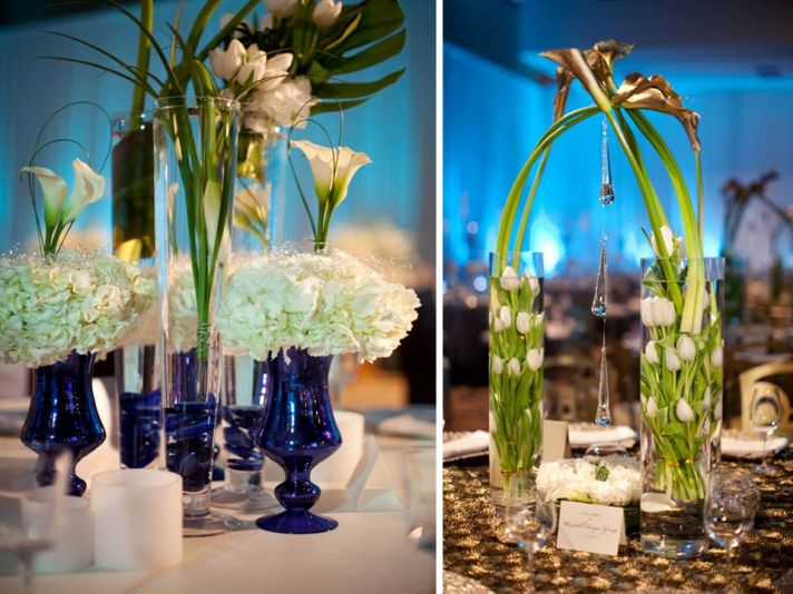 Peacock Feather Wedding Centerpieces Flowers