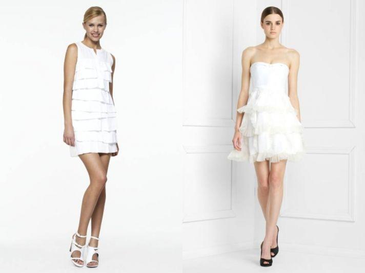 Little white wedding dresses by BCBG