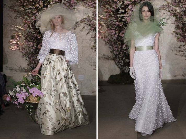 Oscar de la Renta Spring 2012 nature-inspired wedding dresses