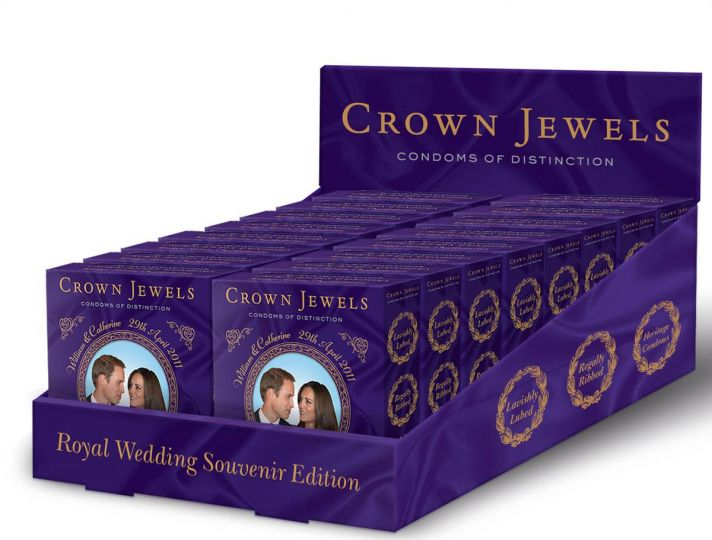 Crown Jewels condoms inspired by Prince William and Kate