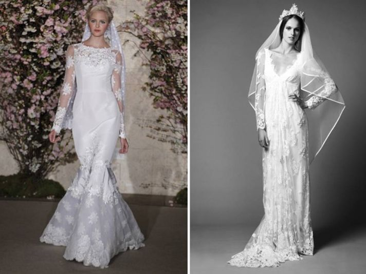 Wedding dresses with sleeves are definitely on-trend for 2011 and beyond