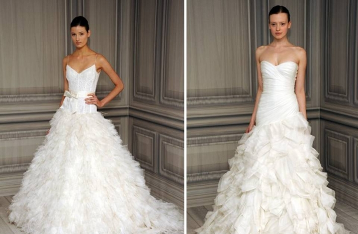 monique-lhuillier-2012-wedding-dress-classic-sweetheart-neckline-drop-waist-textured-skirt-white-bridal-gowns