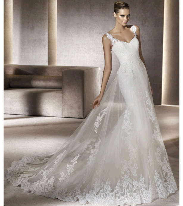 Credit Pronovias wedding dresses 2012 Costura Bridal Collection gowns