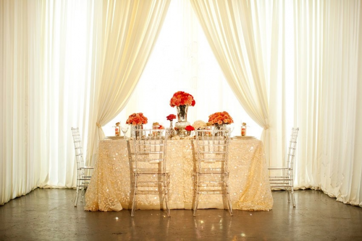 Chic, vintage-inspired wedding reception tablescape inspired by BHLDN
