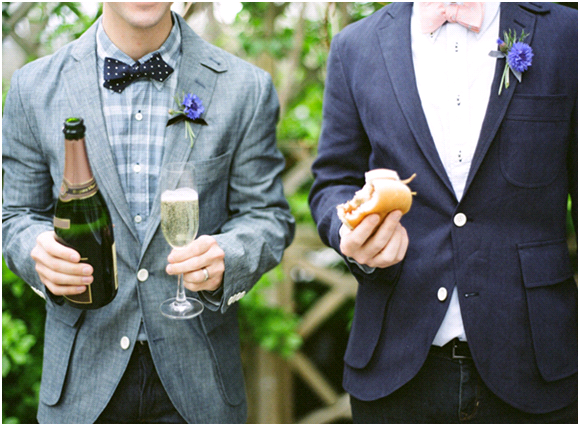 Outdoor wedding inspiration with a denim flair