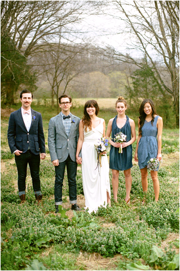 Denim wedding inspiration for your spring or summer wedding