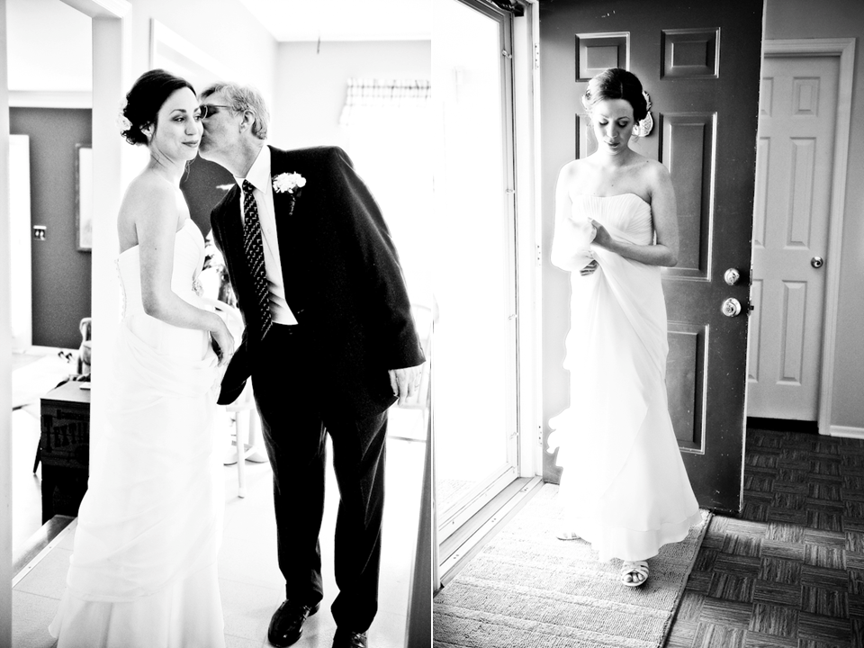 Chic black and white wedding photogaphy shabby chic bride gets kiss from