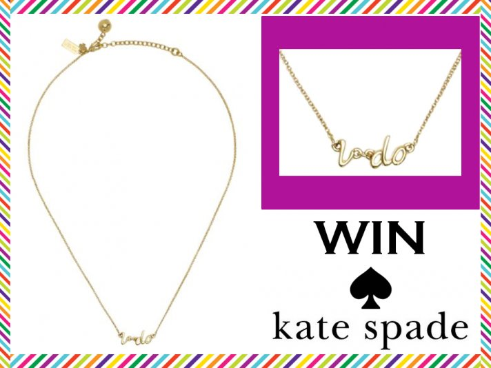 WIN the delicate Kate Spade 'I Do' gold bridal necklace