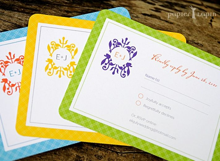Budget-friendly and eco-friendly, this self mailing wedding invitation will set the tone for your we