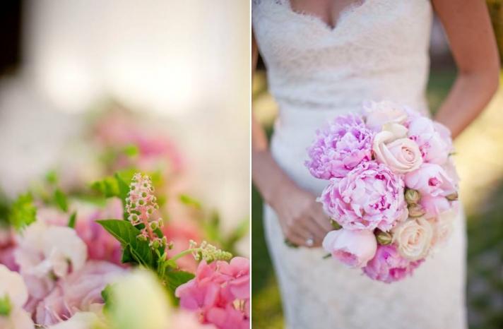 ivory-lace-wedding-dress-romantic-bridal-bouquet-light-pink-peonies-wedding-flowers-california-napa-venue