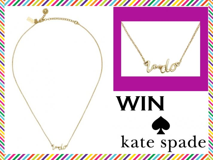 Weekly wedding giveaway- Kate Spade's delicate gold I Do necklace