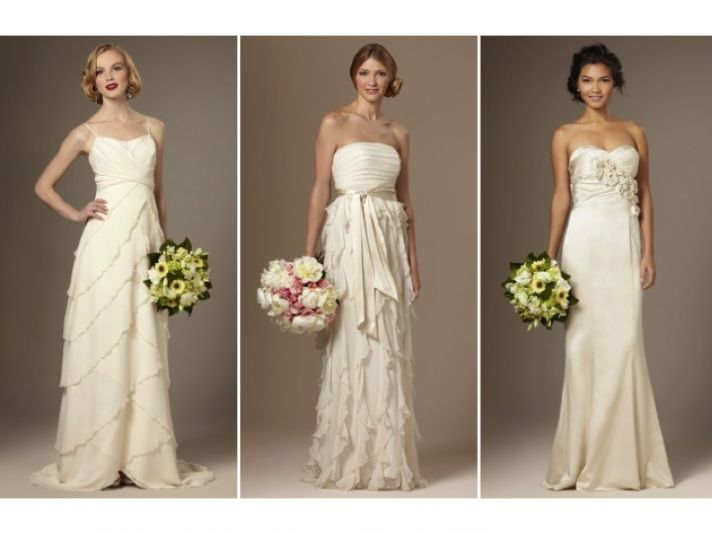 Classic ivory empire, a-line and mermaid wedding dresses from The Limited