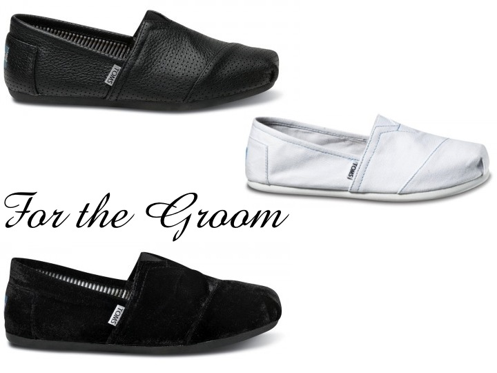 Casual TOMS wedding shoes for your groom Credit Groom 39s TOMS wedding shoes