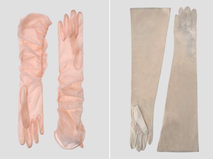 Vintage chic long bridal gloves