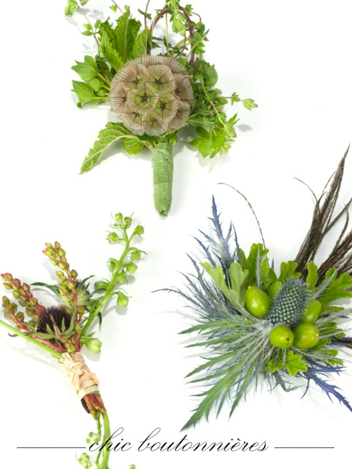 Unique wedding flower ideas for groom's boutonniere