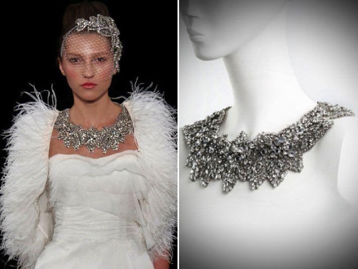 Stunning statement bridal necklace by Jenny Packham