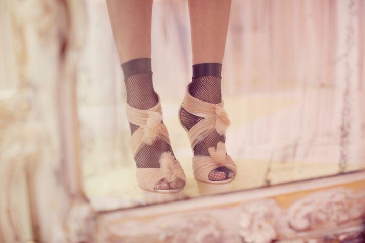 Strappy open-toe bridal heels