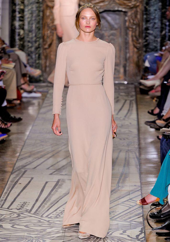 Sleeved beige Valentino wedding dress